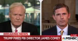 Senator Heinrich appears on MSNBC with Chris Matthews to discuss the firing of FBI Director James Comey