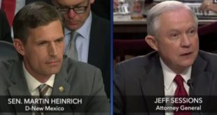 Video: Senator Martin Heinrich questions Attorney General Jeff Sessions